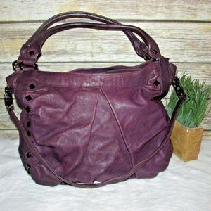 treesje Marley Purple Studded Lather Hobo Bag